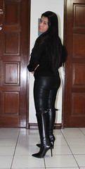 Brilliant Women In Leather Pants On Flickr Leather Pant And Boots By