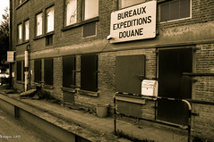 Forgotten customs office.... (ericbaygon) Tags: house abandoned sepia blackwhite office nikon post belgium belgique noiretblanc forgotten maison customs charleroi shipment zoll abandonné douane expeditions hainaut douanier d300s