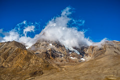 (samujjwalsahu) Tags: road blue sky india white snow mountains clouds landscape surreal dreamy himalayas himalayan northsikkim incredibleindia gurudongmar