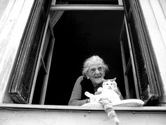 ''plaka 2013...Athens'' (Τάσος Τσουκαλάς 3.000.000views!!!!) Tags: blackandwhite cat blackwhite plaka oldwoman blackdiamond tasostsoukalasphotography