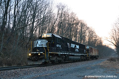NS 6713 EMD SD60 (K88) (Trucks, Buses, & Trains by granitefan713) Tags: train ns locomotive freighttrain norfolksouthern manifest emd sd60 shorttrain specialmove mixedfreight sunburyline emdsd60 oneunitwonder