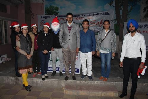 LinguaSoft Edutech team celebrating Christmas at ashiana children's home Panchkula