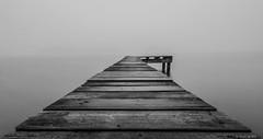 Lonely jetty (koos.dewit) Tags: nl bw fuji fujixe2 fujifilm fujinonxf1024mm groningen holland koosdewit koosdewitnl le longexposure thenetherlands blackandwhite jetty landscape minimalistic mist water