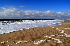 The beach (Tobi_2008) Tags: strand beach meer sea ocean ozean himmel sky wolken clouds insel island sylt schleswigholstein deutschland germany allemagne germania