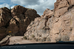 Blind curve (Gallopingphotog) Tags: apachetrail arizona fishcreekcanyonroaddown