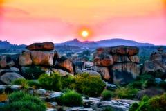India - Karnataka - Hampi - Sunset over Hemakuta Hill - 4d (asienman) Tags: india karnataka hampi vijayanagara asienmanphotography