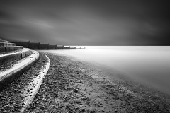 Bottom of the Steps (paulantony2) Tags: seafront seascape groyne blackandwhite monochrome longexposure lee nikon d7100 sea coast coastaldefences steps bigstopper filter