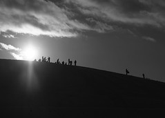 Winter pleasures II (mkorolkov) Tags: streetphotography hill winter silhouette silhouettes sleigh sled pung sledge sunlight sun sunshine clouds cloudscape contrejour monochrome blackandwhite fujifilm xe1 xf1855mm xf1855mmf284