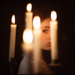 kubrick´s daughter (derlevi) Tags: portrait woman girl daughter candles eye intense emotion film reference barrylyndon 50mmf07