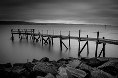 Holywood Yacht Club Jetty. Belfast, Northern Ireland (jtatodd) Tags: 09neutraldensityhardgrad adventure amateur bw belfast belfastlough blackandwhite breakwater clouds coast dark december digital discover discovernorthernireland dock filters fullframe greyscale hardgrad ilce7 iso50 ireland jetty lee leefilters leelittlestopper landscape lightroomcc longexposure mirrorlesscamera monochrome motion nature northernireland photography pier rocks rugged ruin scenery scenic shoreline sky sony sonyfe2870mmf3556oss sonya7 ulster view water winter wooden holywood unitedkingdom gb 10faves