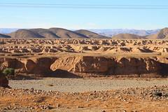 Morocco: Dried river during non rain saison.