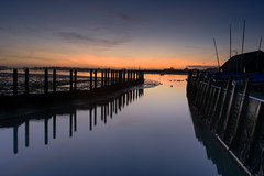 Merry Christmas to You All (Explore 24-12-2016) (Sunset Snapper) Tags: merrychristmastoyouall sunset bosham westsussex southcoast uk lowtide quay boats harbour creek swans birds mud posts filter lee nd grad nikon d810 2470mm december 2016 sunsetsnapper