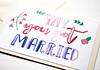 Yay you got married handmade greeting card (roisin.grace) Tags: greetingcards greetingcard handpainted handmade handmadecards handpaintedcards etsy etsyseller etsyshop etsyhandmade etsyfinds lovecards valentinesday valentines valentinescard marriagecard justmarried marriagecards