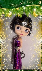 """December Blythe-a-Day#31: Ring in the New Year: LaVern Says, """"Happy New Year, Everyone!"""""""