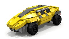 Mining operations transport (tommow) Tags: lego rock raiders ldd mining mine power miners vehicle car all terrain