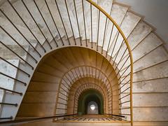 the yellow jura stair (rainerralph) Tags: jura treppe hotel austria staircase objektiv1240pro omdem5markii vienna stair oesterreich wien