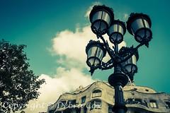 La Pedrera Casa Milà (debra.cox99) Tags: street cityscape urban travel wanderlust barcelona catalonia spain casamila lapedrera casamilà streetlights lamps lanterns