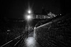 stairway to Annan (billdsym) Tags: annan scotland night earlymorning bw wet