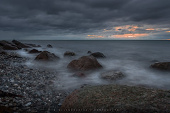 Sea Night (Tim Allendörfer) Tags: sea night ocean stone water wet stones clouds sunset light sun landscape seascape evening dark nature ostsee