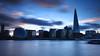 London Skyline at dusk (RAMcN) Tags: longexposure thames shard sunset skyline london