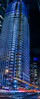 mission salesforce (pbo31) Tags: sanfrancisco nikon d810 color bayarea january 2017 boury pbo31 winter panoramic large stitched panorama night dark financialdistrictsouth city urban lightstream motion traffic roadway muni bus blue salesforce missionstreet construction crane vertical