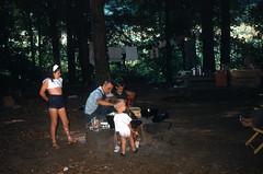 Susan Conner, Dave Conner, Chuck, Buddy Big Ivy Pisgah National Forest NC August 4-8 1954.jpg (buddymedbery) Tags: years daveconner pisgahnationalforest friends 1954 unitedstates northcarolina family 1950s buddymedbery chuck