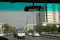Kingdom Centre (Arabic: برج المملكة ), is a 41-storey, 302.3 m (992 ft) skyscraper in Riyadh, Saudi Arabia. (Joe_Harper) Tags: riyadh saudi arabia