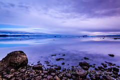 Soft Evening Light (Roshine Photography) Tags: slowshutter eveninglight comox pointhomes salishsea environmental reflection sunset winter landscape cooltones calmwater lowtide rocks britishcolumbia canada ca
