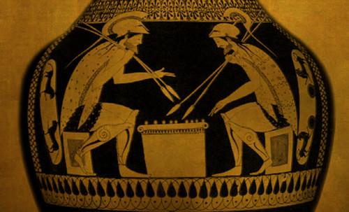 "Petteia - Ludus Latrunculorum  / Iconografía de las civilizaciones helenolatinas • <a style=""font-size:0.8em;"" href=""http://www.flickr.com/photos/30735181@N00/32522193365/"" target=""_blank"">View on Flickr</a>"