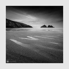 Motive - The Sketches # 52 (Stuart Leche) Tags: beach bigstopper blackwhite canon5dsr cliffs clouds coast coastal cornwall holywellbay landscape longexposure monochrome ocean rocks sea seastacks seascape seaside stuartleche tide wwwstuartlechephotography