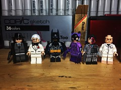 The Long Haloween, Part One. (LordAllo) Tags: lego dc batman the long halloween alberto carmine falcone holiday killer catwoman twoface calendar man