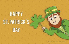 St. Patrick's Day wallpaper (Veronica Newville Mendietta) Tags: gente póster wallpaper unam enap fad green shamrocks shamrock leprechaum elf irlanda saintpatricksday ireland patricksday stpatricksday mobile il design diseño illustration