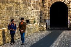 D'Abuaz Gate (rodiann) Tags: rhodes rodi rhodos rodos greece grecia grece chinese leading lines street people watching walking walls castle entrance bridge outdoor