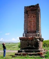 A khachkar near Kosh, Armenia