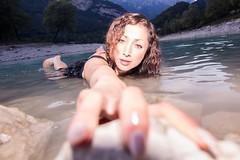 Alive. Shooting day in Tenno lake (TN). La dama del lago. #wetDress #beauty #mountain #lake #summer (db/Works) Tags: summer mountain lake beauty wetdress