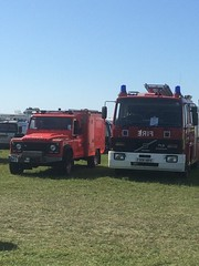 Various Fire Engines and a Red Cross Ambulance from Shoreham Airshow (Ninja Medic) Tags: plane fire crash blues airshow tragedy fireengine pilot shoreham firebrigade 999 bluelights eergency
