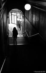 Au bout du tunnel... (PierrickBloin) Tags: city urban blackandwhite canada black canon downtown noir montral noiretblanc quebec montreal qubec ville urbain cityspace canon400d