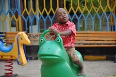 Elisha op de speeltuin