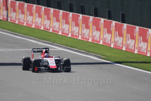 Will Stevens in Free Practice 3 for the 2015 Belgium Grand Prix