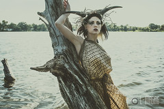 Elizabeth Noir-2 (L-Imaging) Tags: lake chicago art water beauty lady hair model nikon faces crown darkwater laimis limaging
