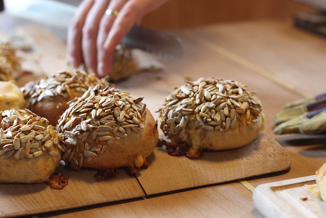 buns with cumin cheese and mustard