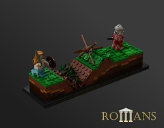 ROMANS - Thin Red Line (Becheman) Tags: castle lego roman legionary povray ldd
