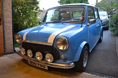 My 1984 Austin Mini City 1000 E (Paul D Cheetham) Tags: city blue white classic car austin mini e 1984 british 1000 minis spotlights b95 ygo b95ygo
