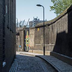 Watergate Street (Spannarama) Tags: uk sunlight streetart london sunshine wall square graffiti mural shadows greenwich deptford watergatestreet