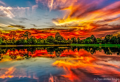Bright Night - Heavy HDR (DonMiller_ToGo) Tags: sunset sky lake reflections landscape florida sunsets g5 skyscapes hdr cloudporn goldenhour fireinthesky skycandy cloudsonfire 5xp hdrphotography 5exposures millerville sunsetmadness sunsetsniper