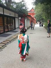 Shichi-go-san In Kyoto (PYONKO) Tags: kids hair kyoto 京都 kimono shichigosan 着物 七五三 下鴨神社 shimogamojinjya 日本髪 nihongami