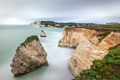 Freshwater cliffs (iscook72) Tags: sea sky cliff rock bay big long exposure wave hampshire calm isle wight freshwater stopper nd3