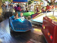 """Paul and Inde Ride in a Car at Sonny Acres • <a style=""""font-size:0.8em;"""" href=""""http://www.flickr.com/photos/109120354@N07/23198532566/"""" target=""""_blank"""">View on Flickr</a>"""