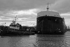 Kathy Lynn (thetrick113) Tags: river ship lakeerie greatlakes laker dredging huronohio johnjboland huroncounty kathylynn workingvessel sonyslta65v hursonriver shipjohnjboland tugboatkathylynn