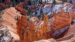 151113Bryce3167ftmw (GeoJuice) Tags: usa utah sandstone limestone geography geology hoodoos weathering sedimentaryrock siltstone mudstone paunsauguntplateau earthe brycecanyonnp geojuice tertiaryclaronformation 60mya crenellatedridges